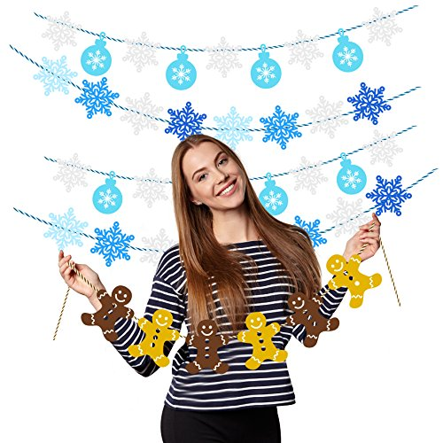 (Treasures Gifted Christmas Decorations Gingerbread Candyland House Party Supplies Office Winter Wonderland Snowflake Garland Xmas Baby Shower Apartment Bunting)