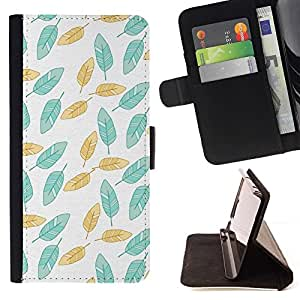 """Pintado trullo Papel pintado verde"""" Colorida Impresión Funda Cuero Monedero Caja Bolsa Cubierta Caja Piel Id Credit Card Slots Para Samsung Galaxy A3"""
