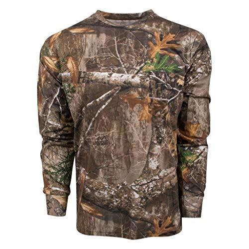 King's Camo Classic Cotton Long Sleeve Tee Shirt Realtree Edge (Medium, Realtree Edge)
