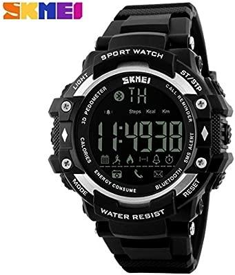 Reloj Deportivo Fitness Tracker SmartWatch con Podómetro Resistente al agua (5ATM) Control Remoto de Cámara Reloj para Correr Para Smartphones Android ...