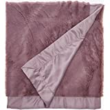 Lambs & Ivy Signature Oversized Minky Stroller Blanket, Mauve
