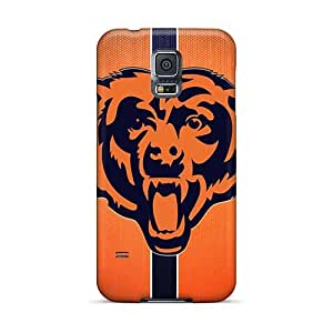 Shockproof Cell-phone Hard Cover For Samsung Galaxy S5 With Allow Personal Design Colorful Chicago Bears Pictures JohnPrimeauMaurice