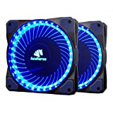 Asiahorse MIRAGE 32LED 120mm Cooling PC Compute custom Quiet case fan 2PACK(Blue)