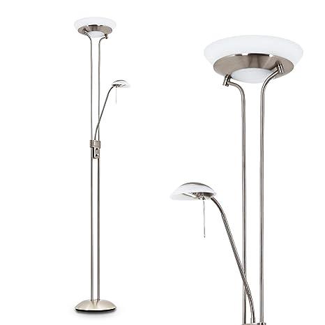 Lampada da Terra Design Classico Color Nickel Opaco Ideale per ...