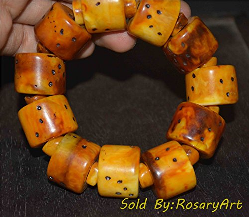 Antique Amber Beads - 3