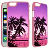 img - for [TeleSkins] - Tropical Palm Trees Sunset Beach - iPhone 6 / iPhone 6S Case - Ultra Durable Slim Fit,Protective Plastic Snap On Back Case / Cover for Girls [Fits (4.7