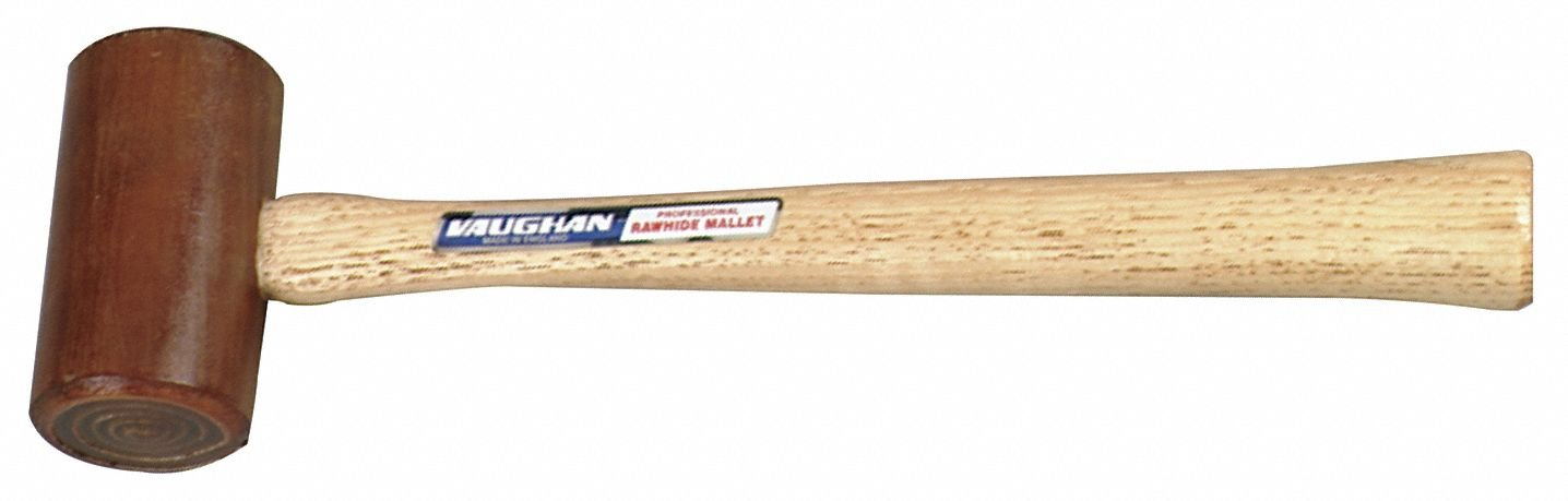 Rawhide Mallet,4 oz. Head Weight,Hardwood Handle Material