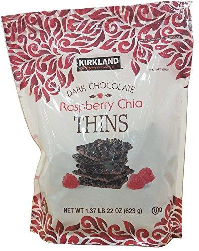 Signature Dark Chocolate - Kirkland Signature Dark Chocolate Raspberry Chia Thins 1.37 lbs.