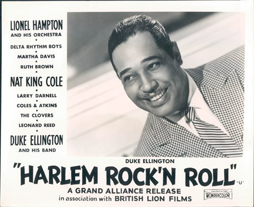 HARLEM ROCK'N ROLL REVUE ORIGINAL LOBBY CARD DUKE ELLINGTON PORTRAIT PHOTO 1956