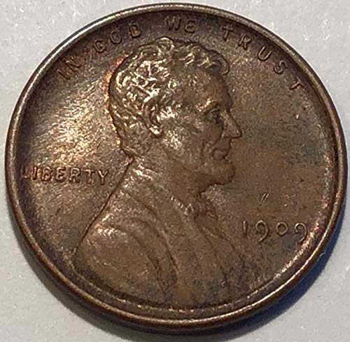 (1909 lincoln Wheat Cent VDB Penny Extremely Fine Details )