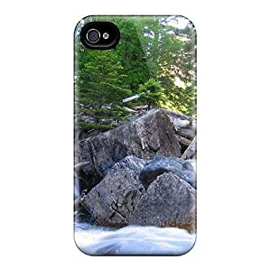 DaMMeke Fashion Protective Waterfull Going Through Rocks Logs Ipod Touch 4