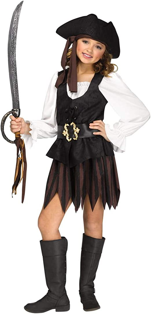 Horror-Shop Traje Rústico Pirata Chica S: Amazon.es: Juguetes y juegos