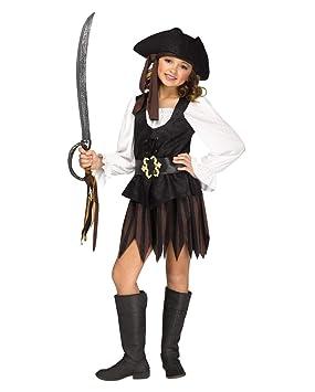 Horror-Shop Traje Rústico Pirata Chica S