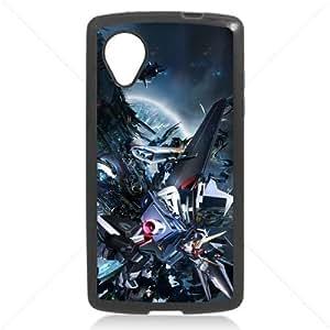 Gundam Manga Anime for LG Google Nexus 5 Hard Plastic Black or White cases (Black)
