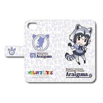 けものフレンズ アライグマ 手帳型スマートフォンケース(iphone6/6s/7用)