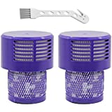 Lemige Filter Replacements Kit Compatible with Dyson V10 SV12 Cyclone Animal Absolute Total Clean Vacuum Cleaner, Washable Replacement HEPA Filter, Compare to Part # 969082-01(2 Pack)