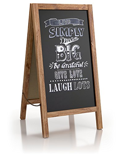 Large Vintage Sandwich Chalk Board 40