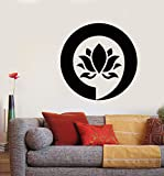 N.SunForest Wall Art Mural Enso Lotus Meditation Relaxation Relax Zen Wall Vinly Decal Sticker Kids Nursery Baby Room Decor
