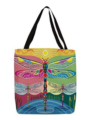 UPC 888635531904, Manual Woodworkers & Weavers Shopping Tote, 18-Inch, Dragonflies