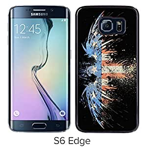Hot Sale Samsung Galaxy S6 Edge Case ,Popular Unique Designed Case With American Flag 5 Black For Samsung Galaxy S6 Edge Case High Quality Phone Case