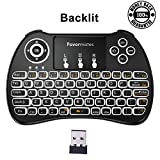 Favormates 2.4GHz Backlit Wireless Mini Keyboard H9 Pro, Mouse Touchpad Combo, Best For Android tv box,HTPC,IPTV,PC,Raspberry pi 3,Pad and More Device