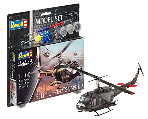 Model Set Bell Uh-1h Gunship, used for sale  Delivered anywhere in USA