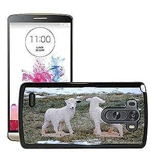 Super Stella Slim PC Hard Case Cover Skin Armor Shell Protection // M00106714 Lamb Sheep Animal Grass Animals // LG G3 VS985