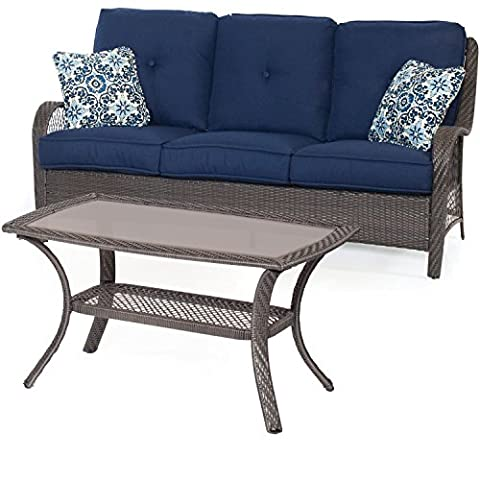 Hanover ORLEANS2PC-G-NVY Orleans 2 Piece Patio Set, Navy Blue - Orleans Patio Furniture