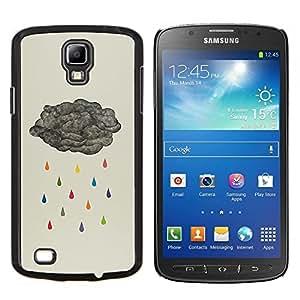 Stuss Case / Funda Carcasa protectora - Metáfora Lluvia Gris Rainbow Profundo - Samsung Galaxy S4 Active i9295