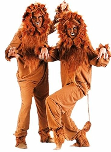 OvedcRay Adult Lion Costume King Of Jungel Lioness Cub Animal Jumpsuit Costumes