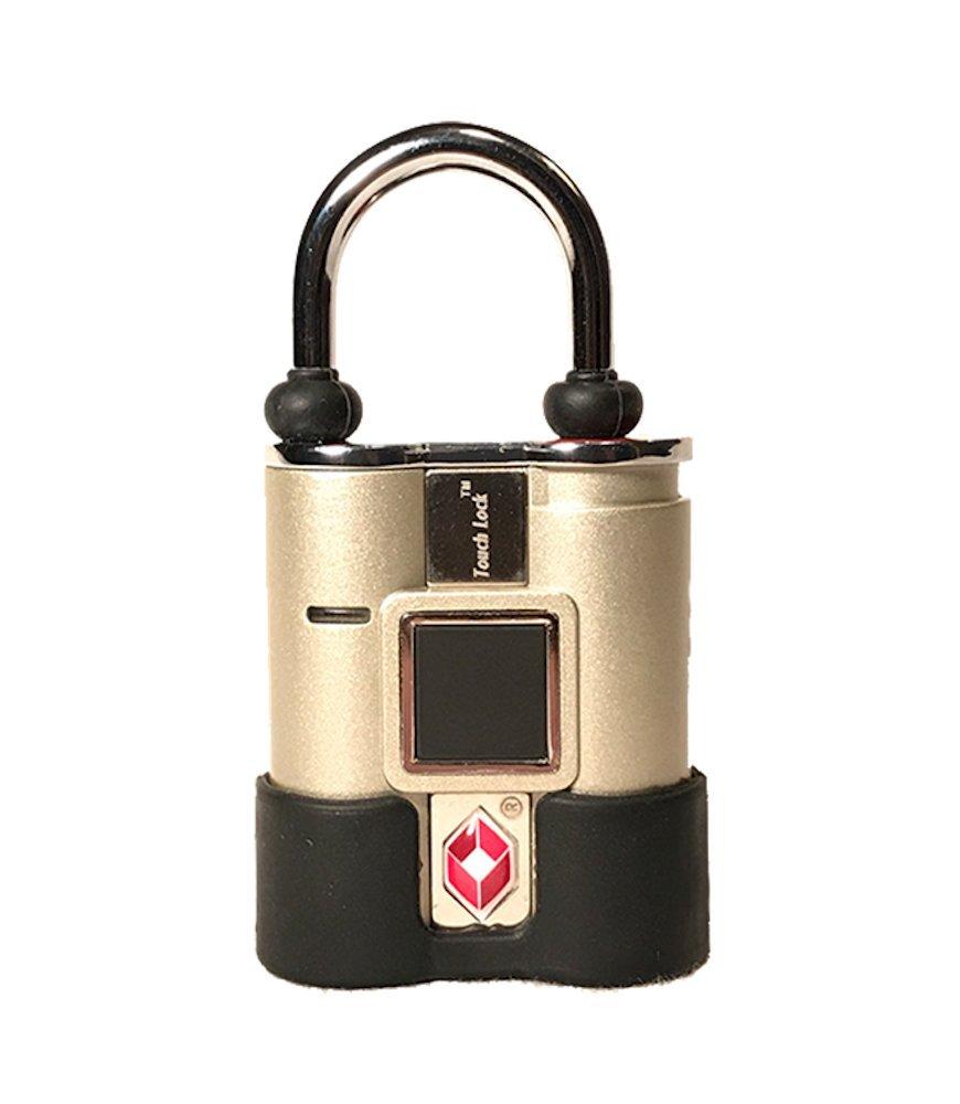 BIO-key TouchLock TSA Approved Smart Luggage Lock, Gold