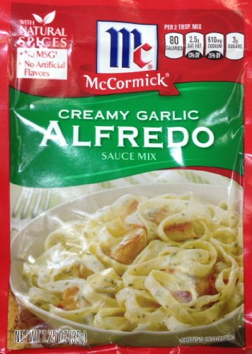 Garlic Alfredo Sauce - McCormick Creamy Garlic ALFREDO Sauce Mix 1.25oz (3 Packets)