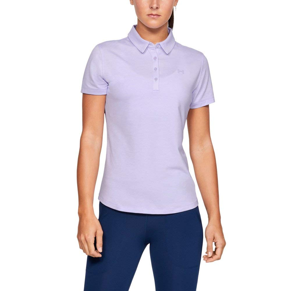 Under Armour Womens Zinger Short Sleeve Golf Polo, Salt Purple (535)/Salt Purple, X-Small