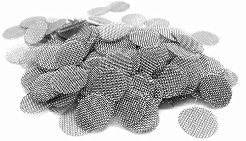 Abg 100Ct 3 8 Inch Stainless Steel Pipe Screens   375  Smoking Bowl Screen Filters For Tobacco Pipes