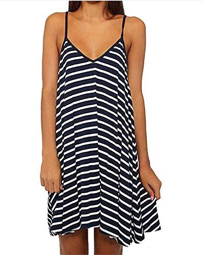 American Trends Women's Casual Tank Tops Spaghetti Strap Camisole Mini Dress Black X-Large ()