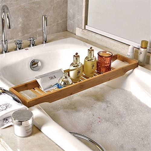 [スポンサー プロダクト]バスタブトレー テーブル 浴室 竹製 ラック 収納 バスタブラック バステーブル お風呂用 バスグッズ 15.5x70cm