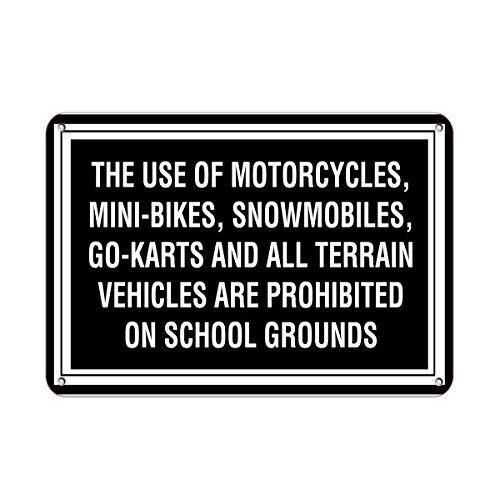 Snowmobile Go Kart - First Rober Motorcycle Bike Snowmobile Go-Karts,Vehicles Prohibited Aluminum Metal Sign 8