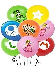 Pack van 14 ballonnen Miotlsy- latex ballonnen met linten verjaardag party decoratie carnaval voor feestjes en verjaardagen. Ideaal om uw feestjes te versieren
