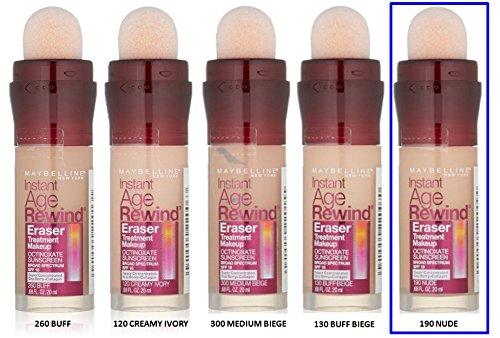 Maybelline Instant Age Rewind Eraser Treatment Makeup Foundation - 190 NUDE