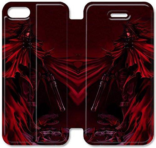Flip étui en cuir PU Stand pour Coque iPhone 5 5S, Vincent Valentine Final Fantasy T8D8FE Coque iPhone Leather Coque Case Bricolage 5 5S Cas de téléphone portable en plastique active