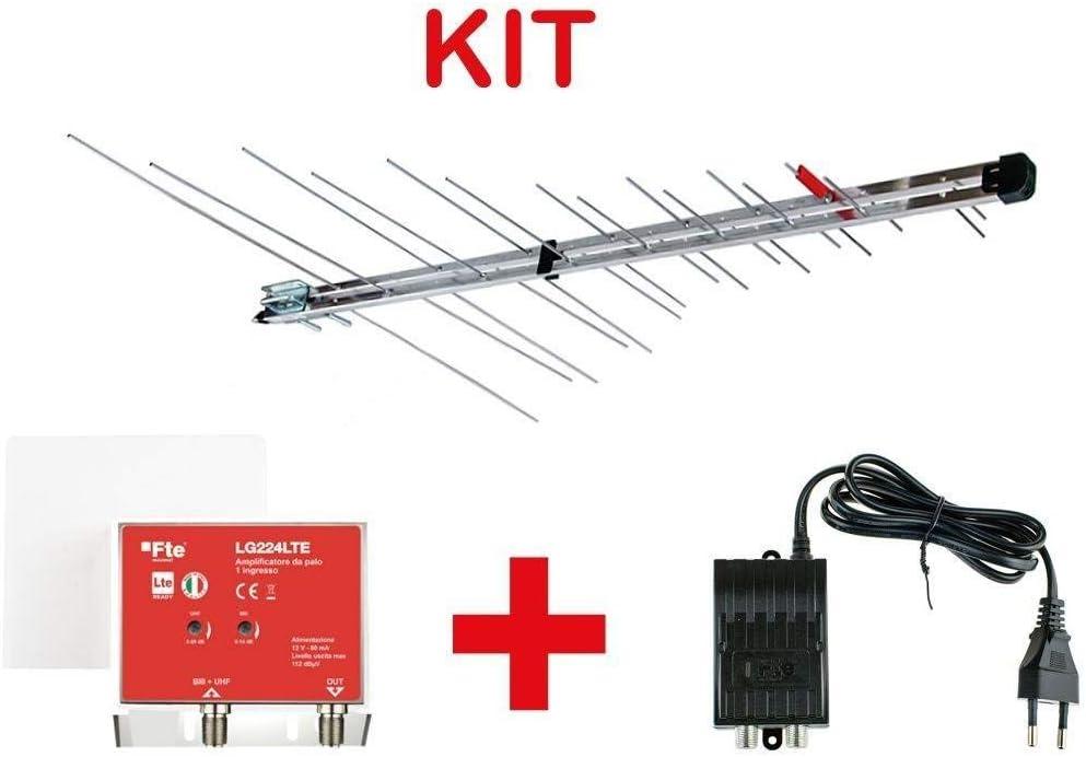 Kit de Antena Log 345 LTE biii + UHF 30 Elementos + ...