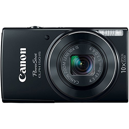 Canon PowerShot ELPH-150 IS Digital Camera (Black)