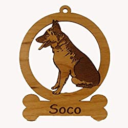 German Shepherd Sitting Ornament 083220 Personalized With Your Dog's Name