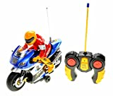 remote motorcycle - PowerTRC RC Motorcycle Car Toy (Blue)