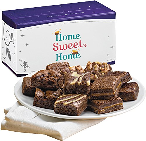 Fairytale Brownies Home Sweet Home Magic Morsel Dozen Gourmet Food Gift Basket Chocolate Box - 1.5 Inch x 1.5 Inch Bite-Size Brownies - 12 Pieces