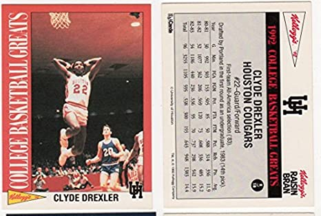 6e6265cdf59 Amazon.com  Clyde Drexler Commemorative College Basketball Card ...