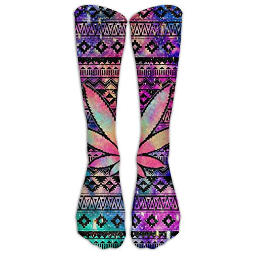 Marijuana Leaffun Compression Knee Socks Stretchability