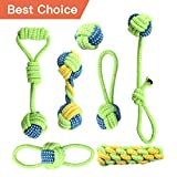 #10: Whoobee Rope Dog Toy, ❤️Puppy Chew Toys for Playtime and Teeth Cleaning, ❤️Durable Cotton Tug of War Balls Dog Bones for Medium To Small Dogs(set of 7)