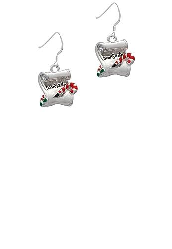 Amazon dear santa letter french earrings jewelry dear santa letter french earrings spiritdancerdesigns Images