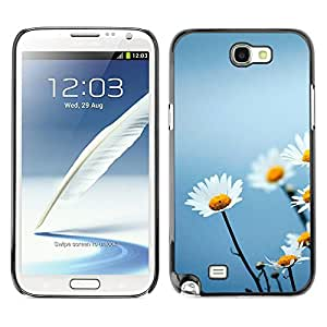Planetar® ( The Floral Innocent Elegance ) SAMSUNG Galaxy Note 2 II / N7100 Fundas Cover Cubre Hard Case Cover